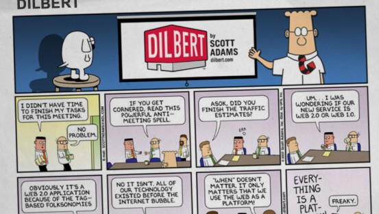 Dilbert Sunday drop panel