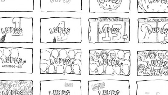"Thumbnail story-boards for ""What is Lupus?"""