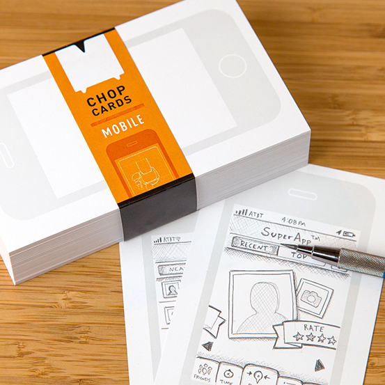 Chop Cards: Mobile Design Index Cards